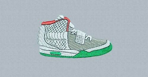 Digitized #sneakers - true flat rate embroidery digitizing - prices start at $5.99 per design. Email your artwork in pdf, jpg or png format to indiandigitizer@gmail.com. http://ift.tt/1LxKtC5 #FlatRateEmbroideryDigitizing #Indiandigitizer #embroiderydigit