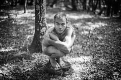 El cuerpo y la tierra (Josean Pablos) Tags: creative photography people photo fotografa art arte nature naturaleza cuerpo body desnudo nude land bw blancoynegro blackandwhite araia lava araba