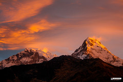 Sunrise over Annapurna South (photosbyrabi) Tags: sunrise mountain himalayan annapurna pokhara kathmandu nepal clouds travel poonhill ghorepani