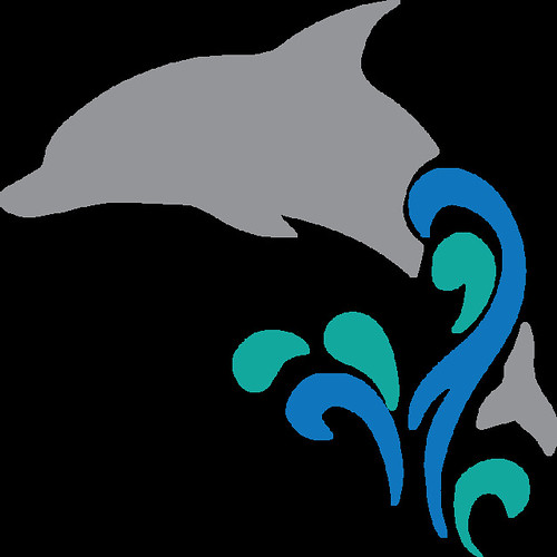 dolphin with water