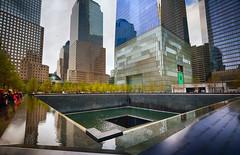 9/11 Memorial in New York (` Toshio ') Tags: toshio newyork newyorkcity manhattan 911memorial neverforget city memorial fujixe2 xe2 buildings architecture people nationalseptember11memorialmuseum worldtradecenter