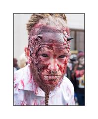 World Zombie Day 2016, West London, England. (Joseph O'Malley64) Tags: zombie zombies worldzombieday2016 wzd homeless charity stmungosbroadway character fakeblood implants eyetattoos tattooedeyes hornsspikes beardweave dreads dreadlocks makeup madeup piercings fun adayout westlondon london england uk britain british greatbritain