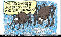 CORKYS NOON CARTOON By Robb Botts (CorkysPestControl) Tags: lol funny comic corkystoon jokes