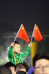 Boy celebrating National Day in Tiananmen Square in Beijing, China (mbphillips) Tags: tiananmen tiananmensquare   gateofheavenlypeace beijing  china  nationalday  canonef85mmf18usm canon450d october1st  mbphillips