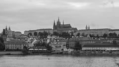 Prague (Pastore_Erica) Tags: prague praha moldova vltava bw castel czech republic black white cityscape panorama