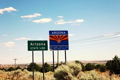 Az State Line (Paige_Terhune) Tags: comment like follow landscape boder line state az sign