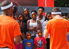 Happy! (TikoTak) Tags: nose orange red people outdoor kids children child nez lunettes glasses spectacle