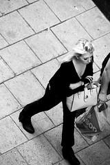 B&W (josephzohn | flickr) Tags: bw svartvitt blackandwhite mnniskor people fromabove streetphoto