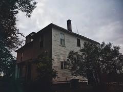 The White House (Abandoned Illinois) Tags: abandoned house illinois white wood paint chipping decrepit vintage trees grey hue urbex exploring urban rurex