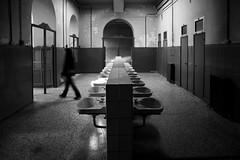 (cherco) Tags: alone solitario solitary silhouette shadow sombra silueta shadows fear misterio mystery composicion composition corridor abandoned abandonado woman mujer canon blackandwhite blancoynegro bath bao tabacalera canon60d 5d