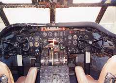 UNTITLED - Martin 202A, N93204, (ex-Allegheny), at TEB, New Jersey, USA. December 2000 (Tom Turner - SeaTeamImages / AirTeamImages) Tags: untitled martin martin202 martin202a allegheny prop twinprop vintage preserved museum teb teterboro newjersey gardenstate usa unitedstates tomturner airport aviation aircraft airliner airplane plane classic n93204 aviationhalloffamemuseumofnewjersey aviationhalloffame cockpit