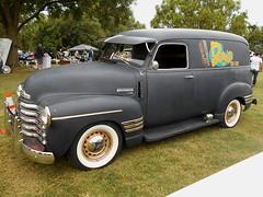 1949 Chevy 3100 Panel (splattergraphics) Tags: 1949 chevy 3100 panel truck custom carshow karbkings mobtowngreaseball dundalkmd