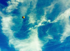 Hot air balloon (Brick Operator) Tags: hot air balloon sky peaceful red yellow