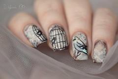 Nail art vintage (Walquiria R.P.) Tags: nailartstamp nails manicure vintagenails stampingnailart carimbodeunhas unhasdecoradas