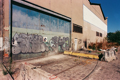 horf - saeio (lepublicnme) Tags: france aubervilliers august 2016 graffiti pal palcrew horf saeio 200 analog expired extra f80 film nikon argentique ciel bleu blue sky