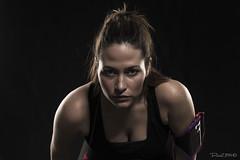 Cristina (Casimemato) Tags: flash beautiful woman face cara mujer belleza sport deporte dark oscuridad mirada
