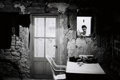 une nuit d'été (asketoner) Tags: cévennes france summer vigan esparon home night shower door wall chair girl head yard
