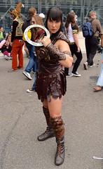 DSC_0346 (Randsom) Tags: nycc 2016 newyorkcomiccon nycomiccon javitscenter october nyc newyorkcity cosplay costume fun comicbooks comicconvention heroine superheroine xena warrior vinyl pvc brunette leather bangs bracelets female