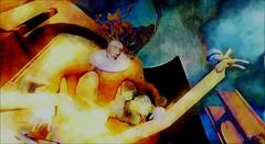 Modern love / Artist : Haveit Neox (Bamboo Barnes - Artist.Com) Tags: haveitneox surreal art virtualart digitalart accalpha secondlife installation vivid red blue green purple orange sky light shadow photo painting bamboobarnes building medusa