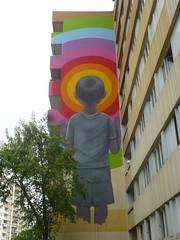 Seth : oeuvre presque termine (17-09-2016) (Archi & Philou) Tags: seth streetart paris13 travailencours workinprogress arcencirl rainbow garon murpeint paintedwall
