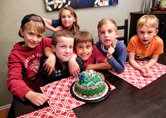 eli 10 (DJHuber) Tags: elijah marcus sam claire finn jack 10th tenth birthday party cake kids candles