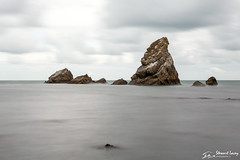 Quiet Majesty (stewartl2010) Tags: dorset mupebay greysky overcastsky muperocks cloudy water jurassiccoast sea seascape landscape longexposure uk rocks england unitedkingdom gb