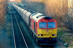 DBS Class 60 - 60100 - Long Eaton Town near Toton (NewSpectrum) Tags: dos news class 60 60100 diesel electric loco locomotive freight cargo train coal hopper hta brush toton long eaton rail railway
