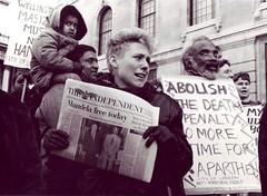 Nelson Mandela release day, Trafalgar Sq. (jklon) Tags: mandela released city aa group