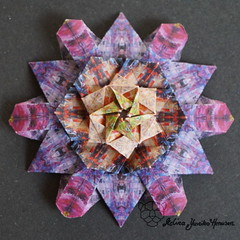 Iimori Flower C (Day 3) (Yureiko) Tags: yureiko tessellation papierfalten papier origami paperfolding paper