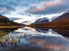 Liathach Sunrise (Stoates-Findhorn) Tags: 2016 autumn clair clouds dawn loch scotland sunrise torridon kinlochewe unitedkingdom liathach