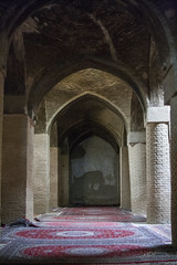 Hallways of Jame Mosque (Ali Shojaee) Tags: isfahan iran iranian art architecture arch dome tile stucco brick mehrab