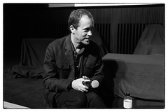Tyler Hubby, director of Tony Conrad: Completely In The Present @ Tate Modern, London, 14th October 2016 (fabiolug) Tags: tylerhubby tonyconrad completelyinthepresent film director portrait conversation microphone tatemodern tate