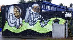 Explore Your Inner Green Space by Milarky & DSide (wiredforlego) Tags: graffiti mural streetart urbanart portland oregon pdx milarky dside