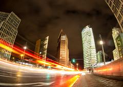 City lights (graveur8x) Tags: potsdamer platz berlin germany deutschland night lights longexposure fisheye wideangle nacht licht cars cityscape olympus olympusem10markii strase 9mm lenscap microfourthirds m43 clouds