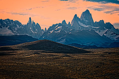 Fitz Roy at Sunset, Patagonia (BlindThirdEye) Tags: argentina peritomoreno elcalafate elchalten patagonia fitzroy landscape icescape glaciers mountains snow sunset wideangle flickrtravelaward