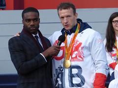 Ore Oduba and Richard Whitehead (Suede Bicycle) Tags: olympics rio rioolympics rio2016 olympicgames heroeswelcome trafalgarsquare summerolympics olympicparade paralympics rioparalympics