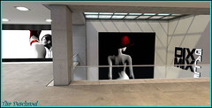 Woman in red  vallys Baxter (Tim Deschanel) Tags: tim deschanel sl secondlife dixmix gallery megan prumier bay port expo woman red vallys baxter exposition galerie photo picture dream rve