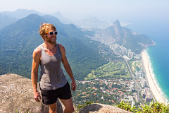 IMG_5014 (sergeysemendyaev) Tags: 2016 rio riodejaneiro brazil pedradagavea    hiking adventure best    travel nature   landscape scenery rock mountain    high forest  ocean   blue