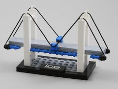LEGO Suspension Bridge (AzureBrick) Tags: lego suspension bridge ice institution civil engineers set custom microscale