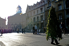 Tree Man in Oxford's Broad Street. (barrie.chalk) Tags: morning man tree green st festival jack spring day theatre may down garland oxford mayday lying fertility broad paganism broadstreet pagan conical sheldonian maymorning jackinthegreen jackthegreen jackgreen foliagecovered oxfordmaymorning
