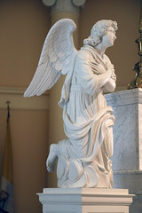 Left Angel on Altar (Jim, the Photographer) Tags: catholic cathedral roman basilica baltimore assumption bvm