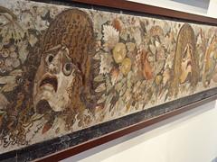 Festone con maschera, foglie e frutta ~ Mosaic (kleintjef) Tags: italy spring italia april napoli naples neapel archeologicalmuseum 2013 museoarcheologiconazionale spring2013