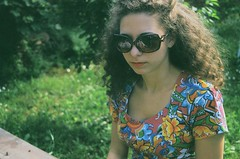 39600024 (m.itake) Tags: portrait green film girl sunglasses 35mm canon vintage hair retro vojvodina srbija