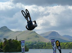 Bike in the park. (goat4views) Tags: bmx derwentwater keswick keswickmountainfestival