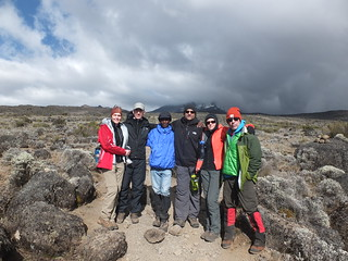 Dennis with his Kilimanjaro group