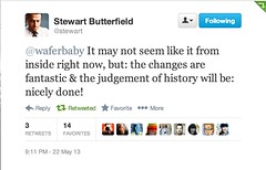 Founder of Flickr Likes the New Flickr (Thomas Hawk) Tags: screenshot flickr stewartbutterfield fav10 fav25