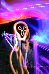Illuminating Edvard Munch's 'The Scream' - Michael Bosanko (michael_bosanko) Tags: lightpainting michael lightgraffiti lightart michaelbosanko bosanko wwwmichaelbosankocom
