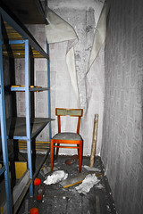 Chernobyl children's room (MoraTilTordis) Tags: red chair radiation ukraine disaster second chernobyl pripyat