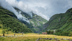The Trip 16/25 The Valley (Tommy Høyland) Tags: road old trip house mountain tourism nature bicycle norway landscape waterfall farm farming goats valley noruega persons flåm active norvege flåmsdalen glouds x100s fellesstøl