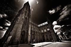 St. Philomena's Church (Rupam Das) Tags: nikon nikkor d810 1024mm wideangle church jesus christ christianity monochrome architecture building outdoor sky clouds mysore india travel